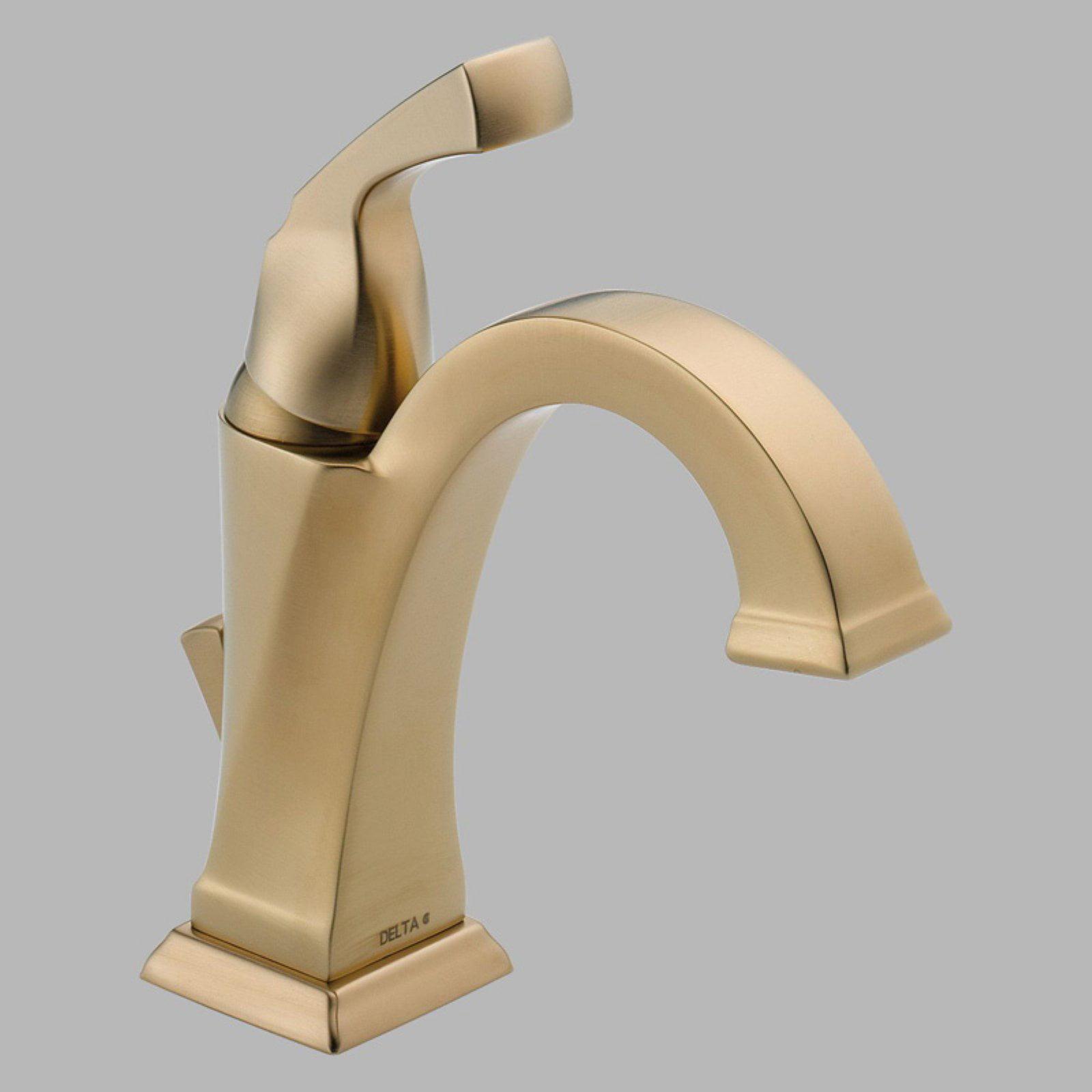 Delta 551-DST Dryden Single Handle Bathroom Faucet w Drain in Chrome