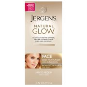 Jergens Natural Glow Oil-Free Daily Moisturizer for Face with Broad Spectrum SPF 20, Fair to Medium Skin Tones, 2 oz