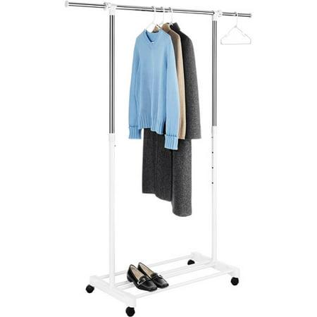 Walmart Clothes Hanger Rack Simple Whitmor Deluxe Adjustable Garment Rack Walmart