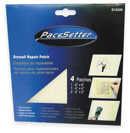 "Goldblatt 4, 4 x 4"",Wall Repair Patch, Self Adhesive, G15215"