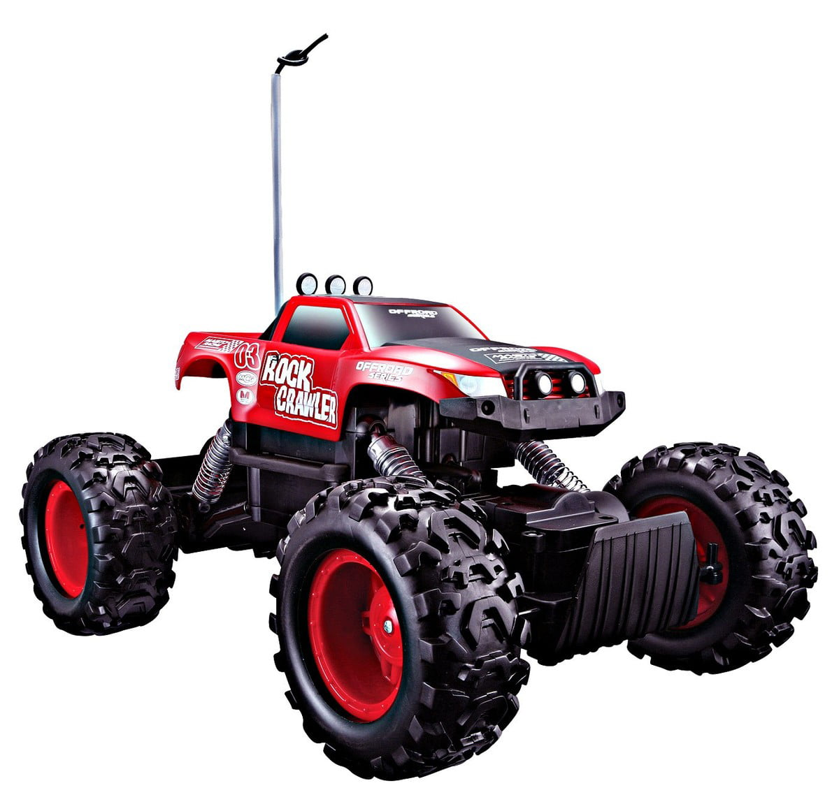 Maisto Tech 4x4 Radio Remote Control Rock Crawler 4WD Off Road RC Truck Ready to Run (Red) by
