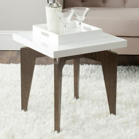 Safavieh Josef Lacquer End Table, Multiple Colors Espresso Lacquer Finish