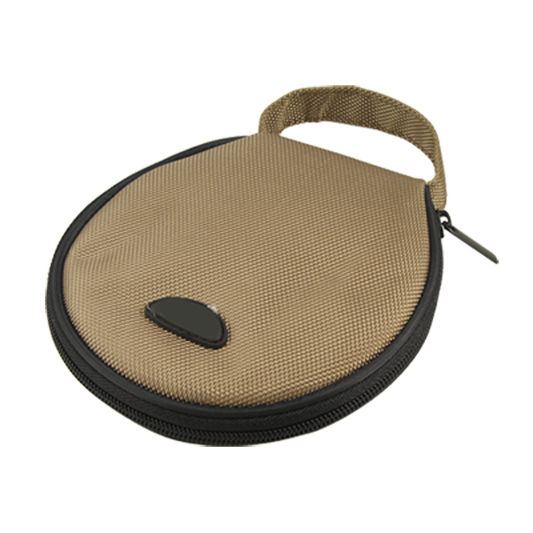 Unique Bargains 20 Disc Round Strap Design Nylon CD DVD Album Holder Bag Wallet Storage Case Organizer Brown