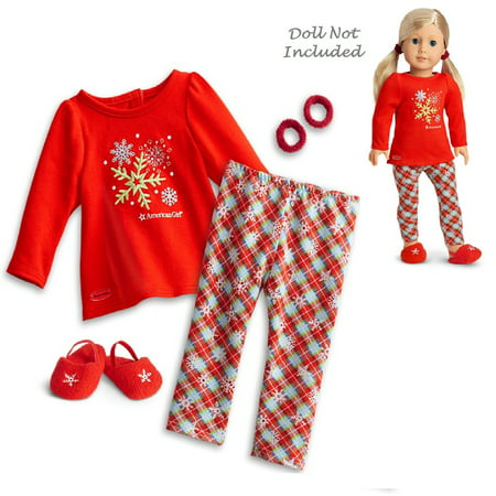 American Girl Truly Me Holiday Dreams Pajamas for 18