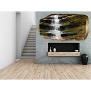 Startonight 3D Mural Wall Art Photo Decor Zen Waterfall Amazing Dual View Surprise Wall Mural Wallpaper for Bedroom Nature Wall Paper Art Gift Large 47.24 '' By 86.61 ''