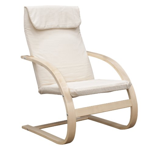 Regency 2000NTBG Mia Reclining Bentwood Chair - Natural & Beige