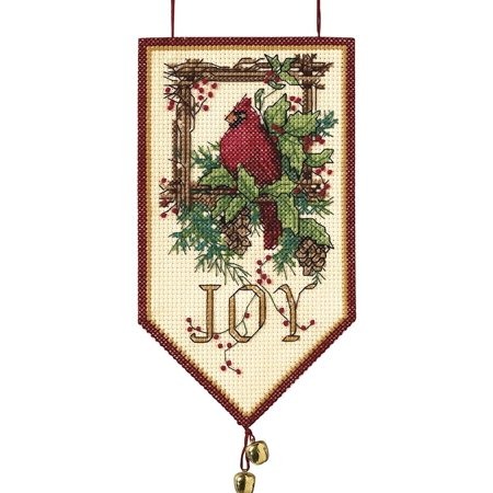 "Dimensions Banners ""Cardinal Joy"" Mini Counted Cross Stitch Kit, 10"" Long"