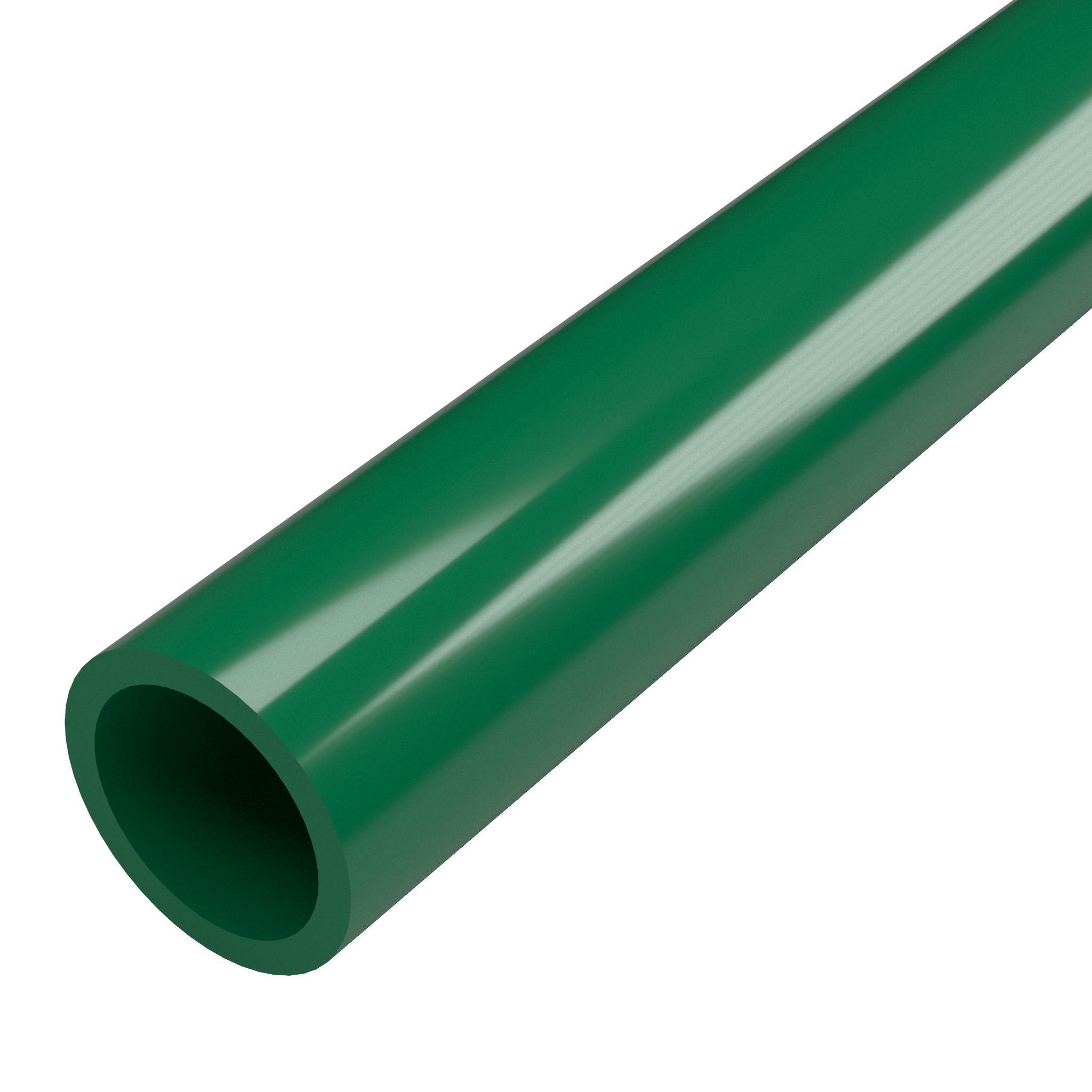 "FORMUFIT P001FGP-GR-5 Schedule 40 PVC Pipe, Furniture Grade, 5-Feet, 1"" Size, Green"