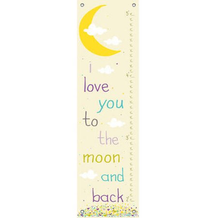 Oopsy Daisy - Lunar Love - Purple Growth Chart 12x42, Finny and Zook (Daisy Love)
