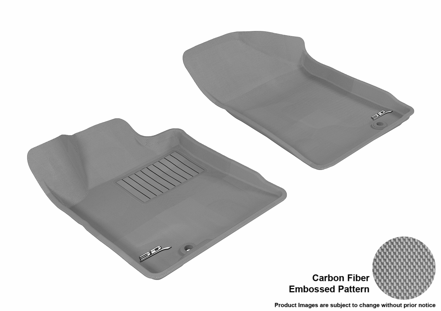 3D MAXpider 2009 2014 Nissan Maxima Front Row All Weather Floor Mats In  Gray With