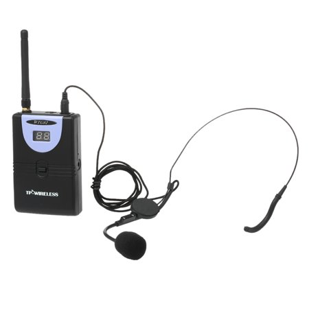 TP-WIRELESS Wireless Audio Tour Guide Acoustic Transmission System Headset Microphone 1 Transmitter 1 Receiver with Lanyard - image 3 de 7