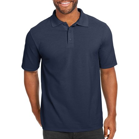 Classic Embroidered Polo Shirt (Hanes Men's x-temp with fresh iq short sleeve pique polo shirt )