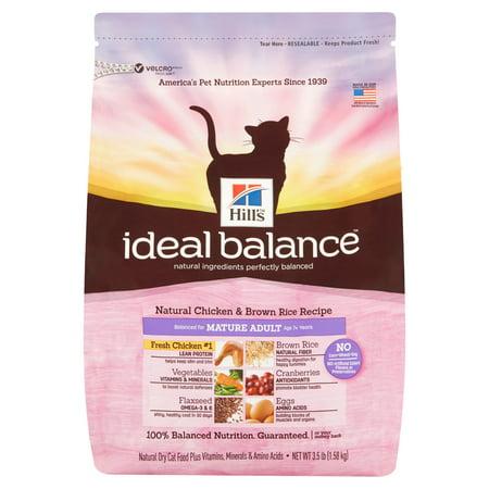 Hill S Ideal Balance Mature Adult Natural Chicken Brown Rice