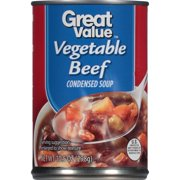 (3 Pack) Great Value Condensed Soup, Vegetable Beef, 10.5 Oz