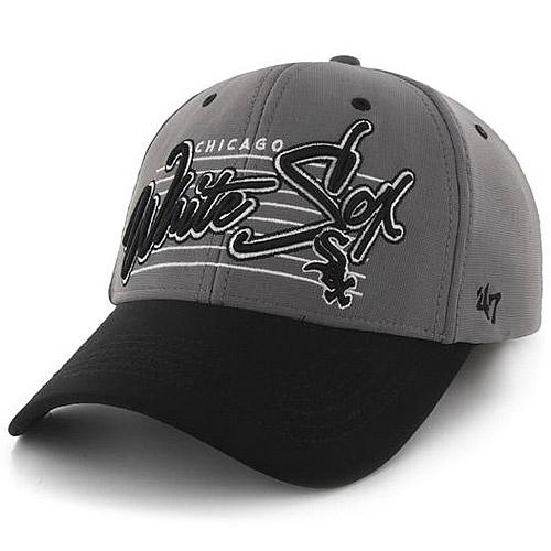 Chicago White Sox '47 Fission 2-Tone Flex Hat - Gray/Black - OSFA