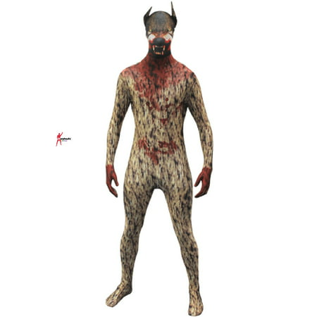 Original Morphsuits Werewolf Adult Suit Character Morphsuit Bodysuit - Scary Morphsuit