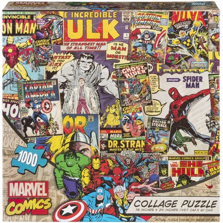 marvel 1000 piece comic collage puzzle. Black Bedroom Furniture Sets. Home Design Ideas