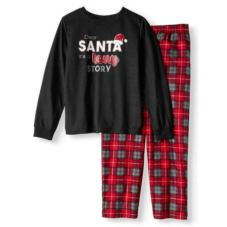 Holiday Family Sleep Plaid Santa Pajamas, 2-piece Set (Little Boys & Big Boys) - Adult Little Mermaid Pajamas