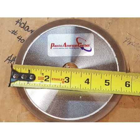 "6"" Diamond Grinding Wheel for Carbide Chainsaw Chain Sharpening Oregon Stihl Husqvarna 1/8"" x 7/8"" Arbor"
