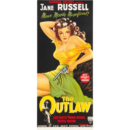 The Outlaw  1941  13X30 Movie Poster  Australian