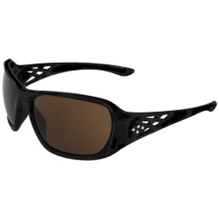 Erb Safety Glasses - ERB Rose Safety Glasses Black Frame with Brown Lens
