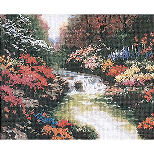 "M C G Textiles Thomas Kinkade Beside Still Waters Counted Cross Stitch Kit, 14"" x 11"", 14 Count"
