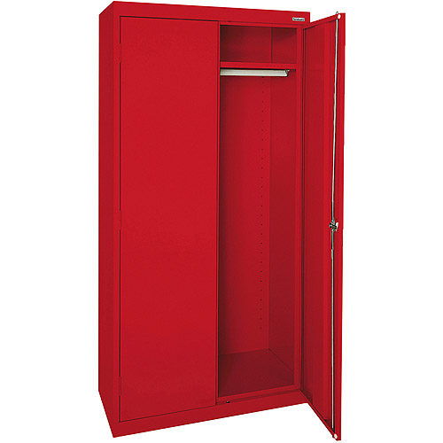 "Elite Series Wardrobe Cabinet with Adjustable Shelf, 46""W x 24""D x 72""H, Red"