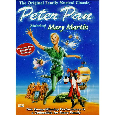 Peter Pan starring Mary Martin 1960 Color Live Broadcast MOD DVD-R ()