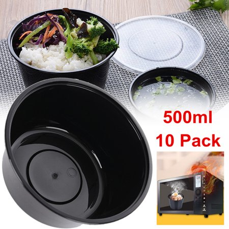 10Pcs Round Microwave Meal Prep Container Food Storage Takeaway Lunch Box w/ - Halloween Food Main Meal
