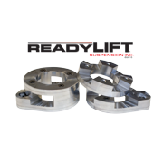 ReadyLift Suspension 07-17 Jeep Wrangler JK 1.0in-2.0in Adj Fr Coil Spacer Lvling Kit Billet Alum.