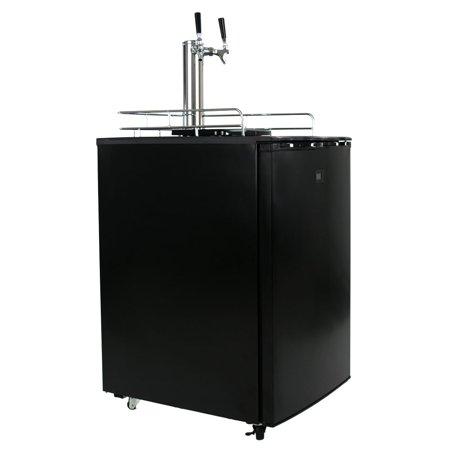 KeggerMeister KM5600BK Dual Tap Pour Kegerator Keg Beer Dispenser - (Dual Tap Kegerator)