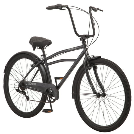 Schwinn Midway cruiser bike, 29-inch wheels, 7 speeds, men's frame, black