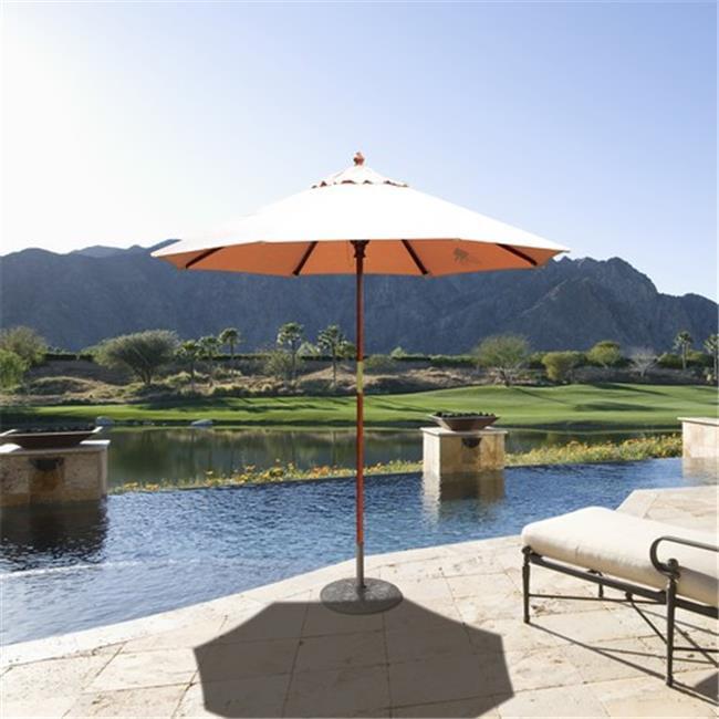 Galtech 7.5 ft. Light Wood Cafe - Bay Brown Sunbrella