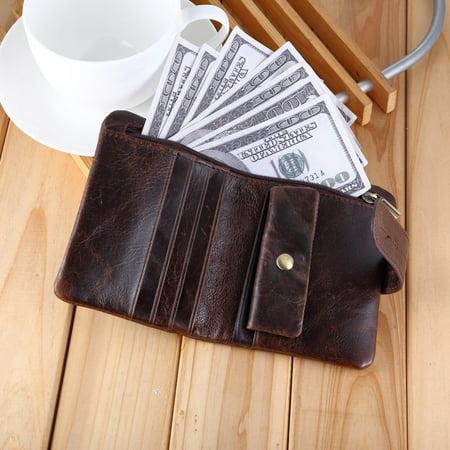 519 Men'S Handmade Pu Leather Long Wallet Retro Zipper Men And Women Handbag - image 5 of 9