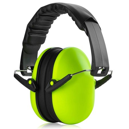 Hearing Protection Ear Muffs - Lime Green Hearing Protection and Noise Cancelling Reduction Safety Ear Muffs, Fits Children and Adults, Perfect for Shooting, Hunting, Woodworking and More by