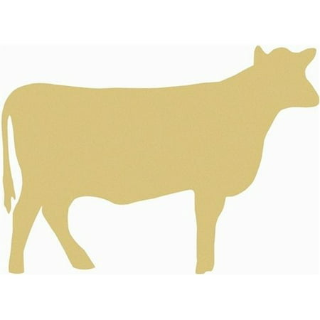 Cow Unfinished Cutout, Wooden Shape, Paintable Wooden MDF DIY Craft