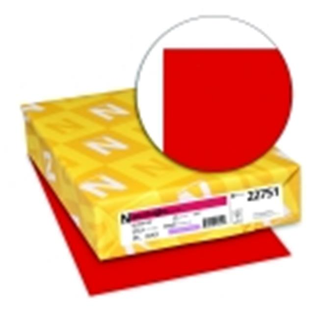 Astrobrights 8.5 x 11 in. Paper Acid-Free Premium Card Stock Reentry Red, Pack 250 by Astrobrights