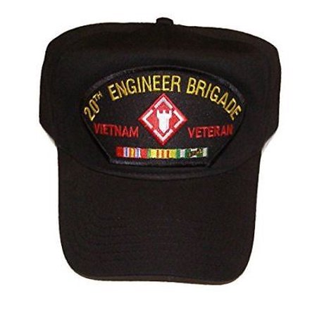 US ARMY 20TH ENGINEER BRIGADE VIETNAM VETERAN HAT CAP W/ CAMPAIGN RIBBONS  CASTLE