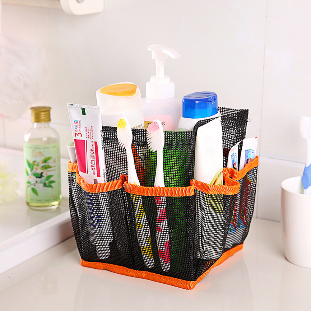 Model Of Binmer Mesh Shower Caddy Tote Wash Bag Dorm Bathroom Caddy Organizer with 8 Basket Pockets For Your House - Review Mesh Shower Caddy Lovely