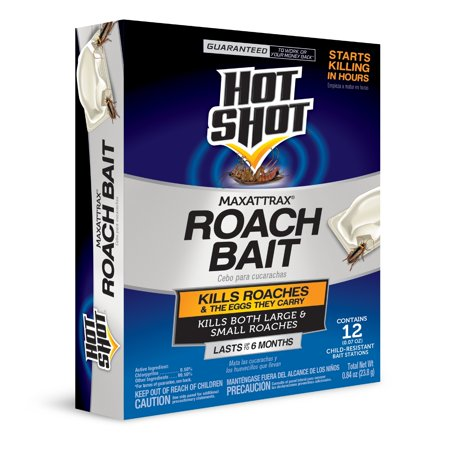 Hot Shot MaxAttrax Roach Bait, Child-Resistant Bait Station, (The Best Roach Bait)