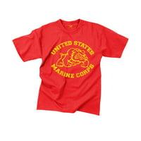 Red Marine Corps, USMC Bulldog T-Shirt, Vintage Feel