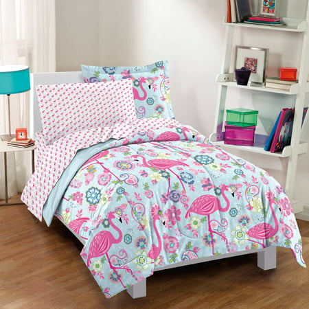 Dream Factory Flamingo Bed In A Bag Comforter Set