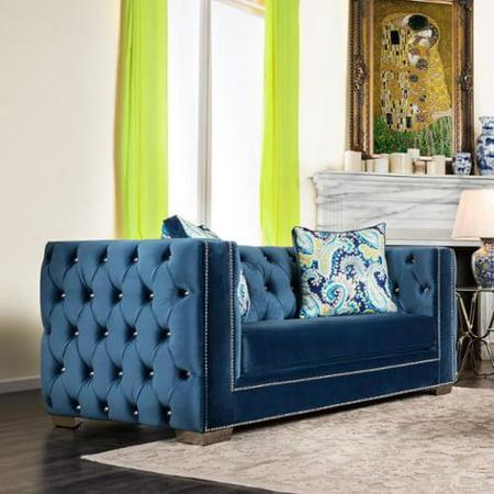 Superb Furniture Of America Giselle Contemporary Premium Velvet Customarchery Wood Chair Design Ideas Customarcherynet