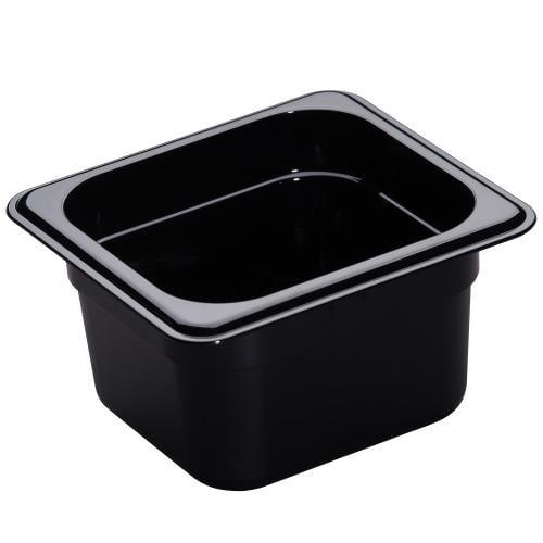 Cambro - 64HP110 - 1/6 Size 4 in Deep Black H-Pan™ Food Pan