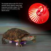 FAGINEY 1Pc UVA UVB Reptile Heating Light Bulb Snake Turtle Pet Full Spectrum Sunlight Lamp, Reptile Light Bulb, Reptile Heating Light