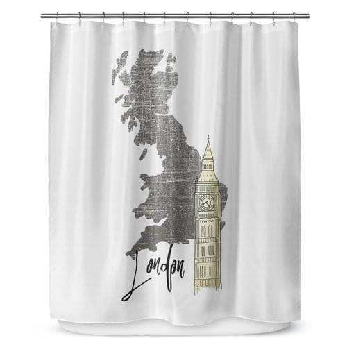 KAVKA DESIGNS London 90'' Shower Curtain