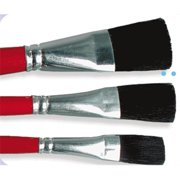 Gordon Brush 0742-00075 Blk Ox Hair 1. 25Tr Glze-0. 75 inch Case Of 24