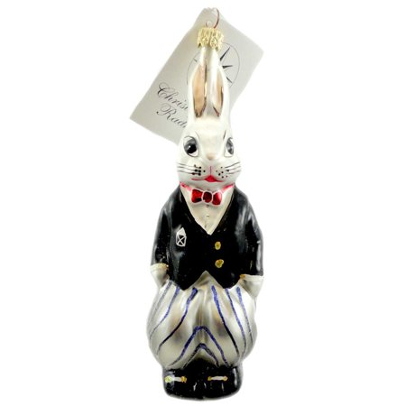 Christopher Radko BILLY BUNNY EVENT Blown Glass Ornament Easter Spring Rabbit - Bunny Ornaments