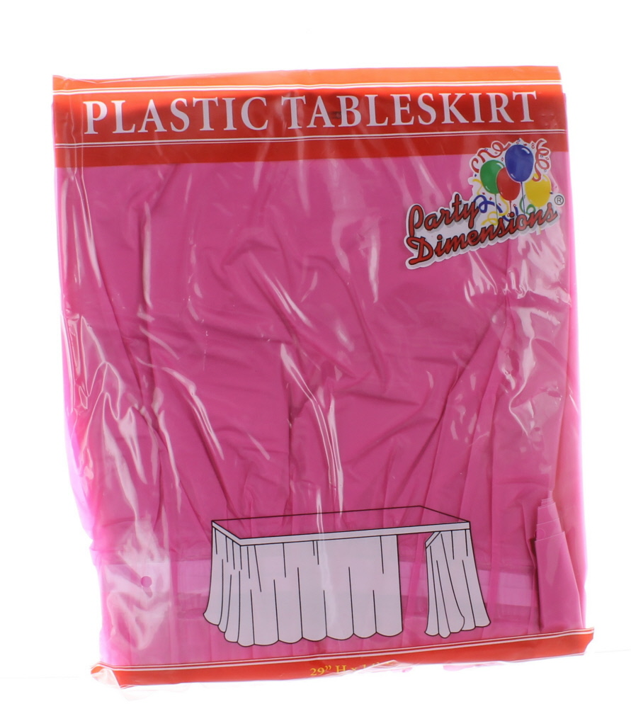 "Plastic Table Skirt 29"" x 14' Rectangular Party"