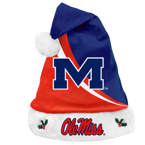 Forever Collectibles NCAA Swoop Logo Santa Hat, University of MississippiRebels